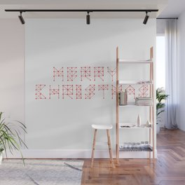 Merry Christmas typography  Wall Mural