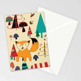 woodland fox Stationery Cards