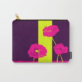 Neon Poppies #society6 #poppies Carry-All Pouch