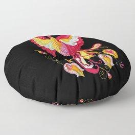 Firebird - Fantasy Creature Floor Pillow