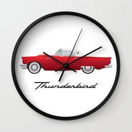 1957 Thunderbird Wall Clock