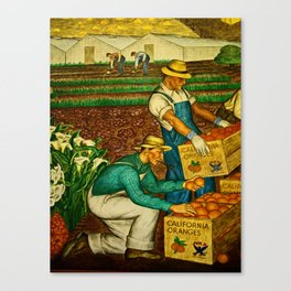 A gathering of an Orange Harvest Canvas Print