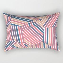 Tequila Sunset - Voronoi Stripes Rectangular Pillow