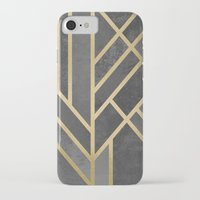 deco iPhone & iPod Cases featuring Art Deco Geometry 1 by Elisabeth Fredriksson