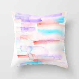 170527 Back to Basic Pastel Watercolour 23  |Modern Watercolor Art | Abstract Watercolors Throw Pillow