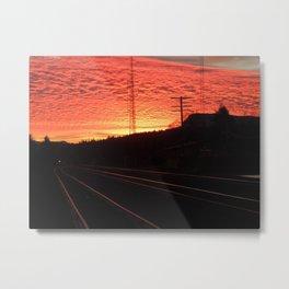 Sunset Railroad Metal Print