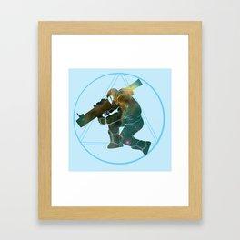 Rocket Jump Framed Art Print