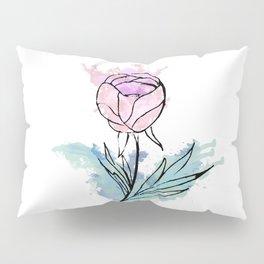 pink abstract flower Pillow Sham