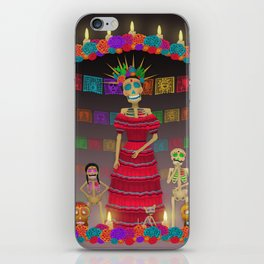Purple Gray Ómbre Day of the Dead iPhone Skin