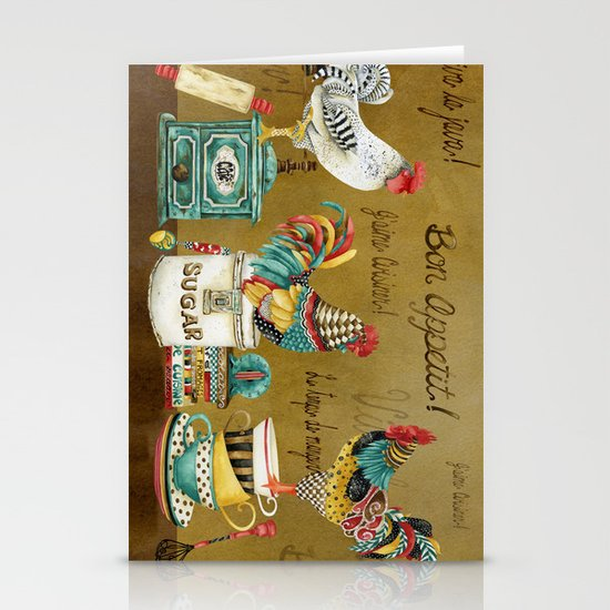 Roosters Majestic Stationery Cards