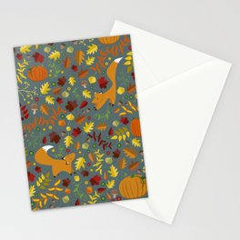 Fox In The Leaves Stationery Cards