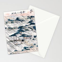 Karasaki no yau Japanese Ukiyo-E Woodblock Stationery Cards