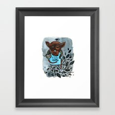Mr. Boxer is in love with Cats Framed Art Print