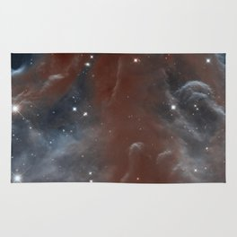 illuminated reins of the nebulous horse | space #11 Rug