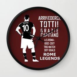Arrivederci Totti Wall Clock
