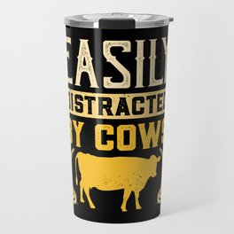 Distraction by cows Funny gift for farmers Travel Mug