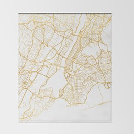 NEW YORK CITY NEW YORK CITY STREET MAP ART Throw Blanket