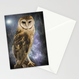 Wise Old Owl - Bird Art Stationery Cards