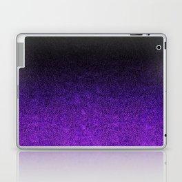 Purple & Black Glitter Gradient Laptop & iPad Skin