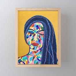 Pop Art woman face colors Fauve Lady 5 rock  Framed Mini Art Print