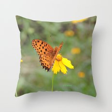 Ms. Indian Fritillary at West Lake Throw Pillow