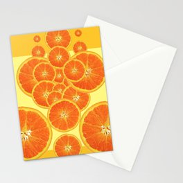 CONTEMPORARY ORANGE SLICES  ABSTRACT MODERN ART Stationery Cards