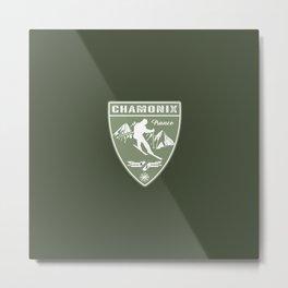 Ski Chamonix France Metal Print