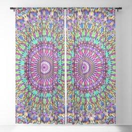 Bohemian Blossom Mandala Sheer Curtain