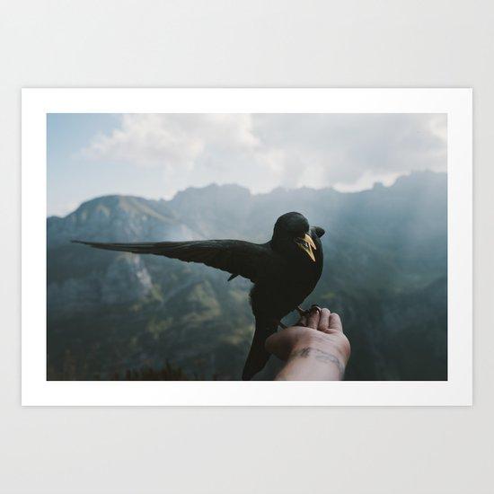 A wild Bird - landscape photography Art Print