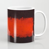 rothko Mugs featuring Black, Red and Black 1968 Mark Rothko by Rothko