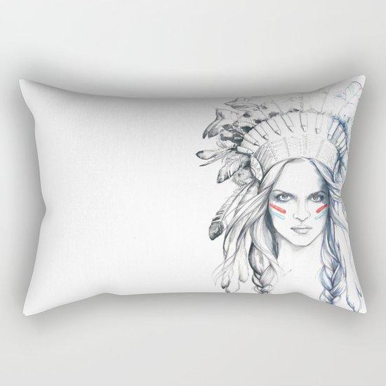 Indian Woman Rectangular Pillow