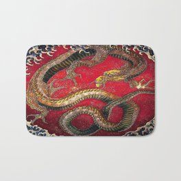 Embossed Hokusai Dragon Seal Very High Quality Bath Mat