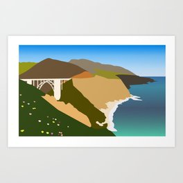 Big Sur Illustration Art Print