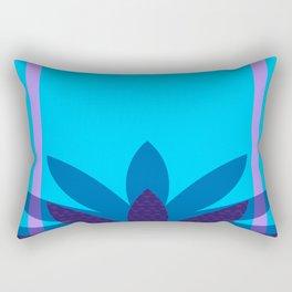 Floretta Loves Blue Rectangular Pillow