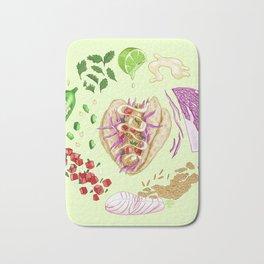 Fish Taco Diagram Bath Mat