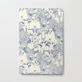 just goats classic blue pearl Metal Print