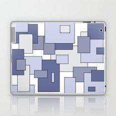 Squares - blue. Laptop & iPad Skin