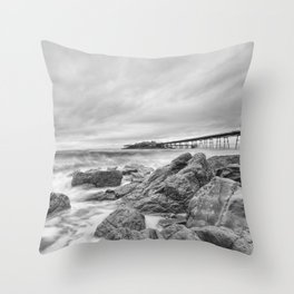 The Old Pier Throw Pillow