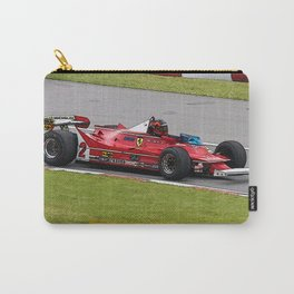 Sketch of F1 Champion Gilles Villeneuve - year 1980 car 312 T5 Carry-All Pouch