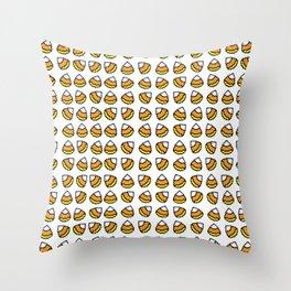 8-bit Halloween Candy Corn Throw Pillow