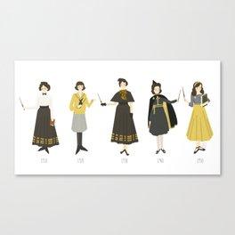 Yellow Uniforms 1910-1950 Canvas Print