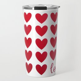 Hearts and Love Travel Mug