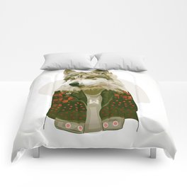 wolf jacket Comforters