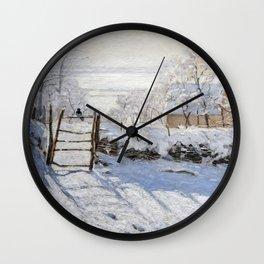 1869-Claude Monet-The Magpie -89 x 130 Wall Clock