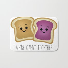 We're Great Together - Peanut Butter & Jelly Bath Mat