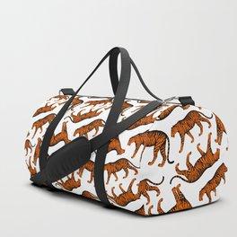 Tigers (White and Orange) Duffle Bag