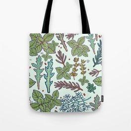 herbs pattern Tote Bag