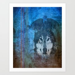 Raven and Wolf Art Print