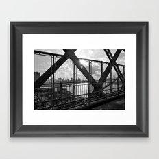 Williamsburg Bridge Framed Art Print