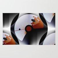 deco Area & Throw Rugs featuring Arte Deco by 'Artisimo' (Keith Bond)